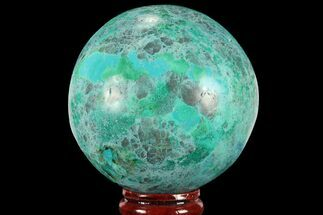 "2.5"" Polished Chrysocolla Sphere - Peru For Sale, #95663"