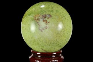 "2.5"" Polished Green Opal Sphere - Madagascar For Sale, #95858"