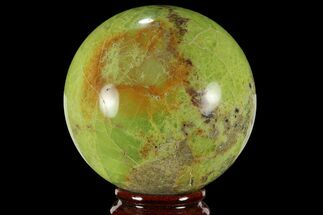 "2.6"" Polished Green Opal Sphere - Madagascar For Sale, #95864"