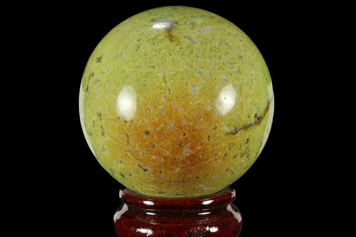 "3.1"" Polished Green Opal Sphere - Madagascar"