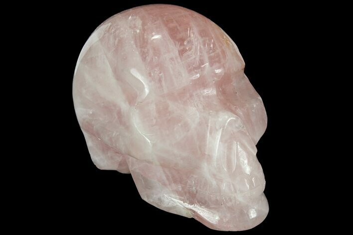 "3.4"" Polished Brazilian Rose Quartz Crystal Skull"