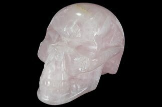 "Buy 4"" Polished Brazilian Rose Quartz Crystal Skull - #95566"