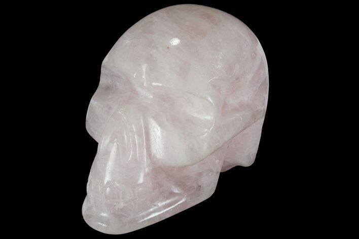 "4.1"" Polished Brazilian Rose Quartz Crystal Skull"