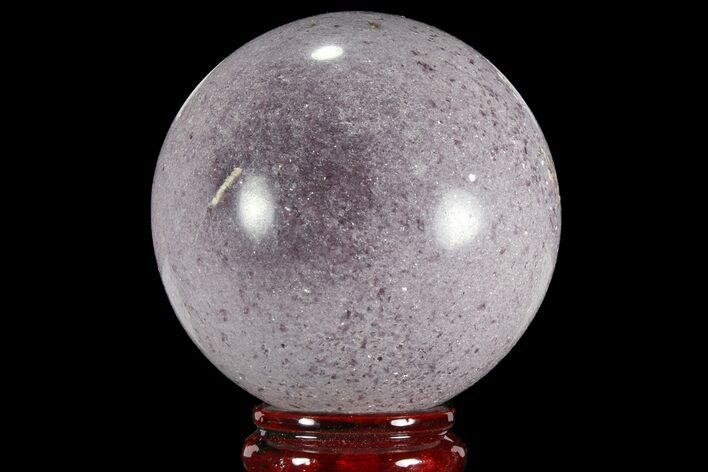 "3.85"" Sparkly, Purple Lepidolite Sphere - Madagascar"