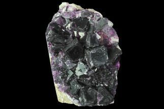 "3.1"" Dark Purple Cubic Fluorite and Quartz - China For Sale, #94313"