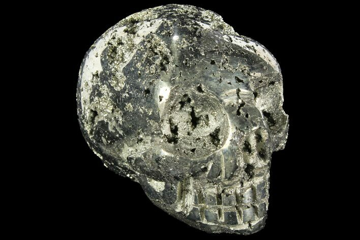 "2.6"" Polished Pyrite Skull With Pyritohedral Crystals - Peru"