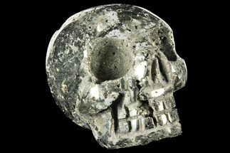 "Buy 3"" Polished Pyrite Skull With Pyritohedral Crystals - Peru - #96325"