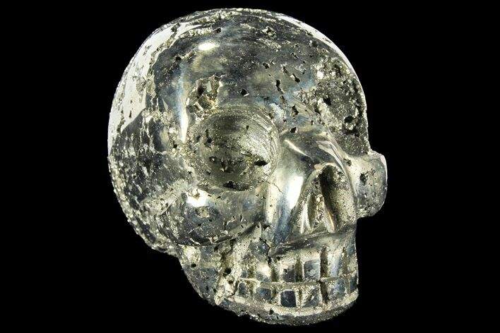 "2.7"" Polished Pyrite Skull With Pyritohedral Crystals - Peru"