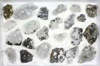 Pyrite, Galena, Quartz, Sphalerite, Calcite & More - Fossils For Sale - #97059