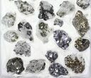 Wholesale Flat - Pyrite, Galena, Quartz, Etc From Peru - 31 Pieces - #97060-2