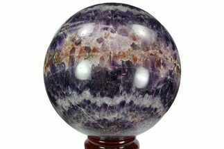 "4"" Polished Chevron Amethyst Sphere - Morocco For Sale, #97706"