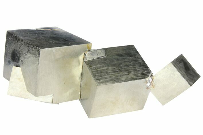 Natural Pyrite Cube Cluster From Spain