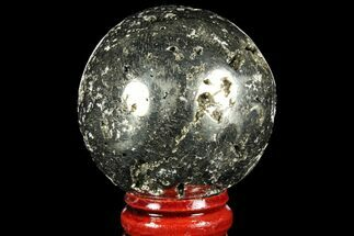 "1.7"" Polished Pyrite Sphere - Peru For Sale, #97976"