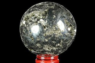 "2.25"" Polished Pyrite Sphere - Peru For Sale, #97988"
