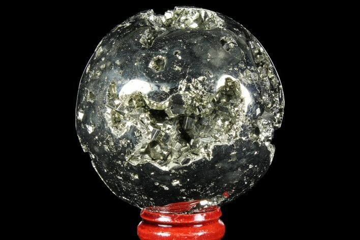 "2.3"" Polished Pyrite Sphere - Peru"
