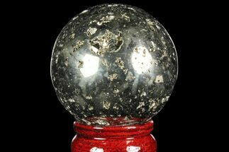 "2.3"" Polished Pyrite Sphere - Peru For Sale, #97997"