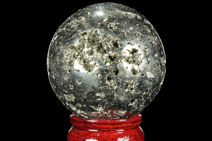 "2.4"" Polished Pyrite Sphere - Peru"