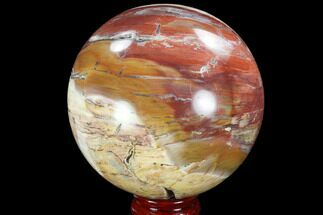 "4.4"" Colorful, Petrified Wood Sphere - Madagascar For Sale, #98468"