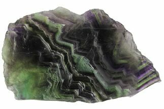 "5"" Polished Green & Purple Fluorite Slab - China For Sale, #98588"