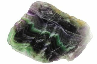 "Buy 5.8"" Polished Green & Purple Fluorite Slab - China - #98602"