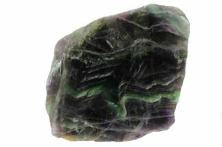 "Buy 6.7"" Polished Green & Purple Fluorite Slab - China - #98626"