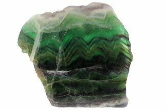 "Buy 6.6"" Polished Green, Purple & Blue Fluorite Slab - China - #98641"