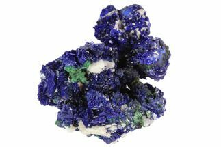Azurite, Malachite & Quartz - Fossils For Sale - #98751
