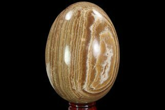 "5.4"" Polished, Banded Aragonite Egg - Morocco For Sale, #98918"