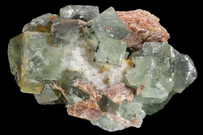"4.1"" Blue-Green, Cubic Fluorite Crystal Cluster - Morocco"