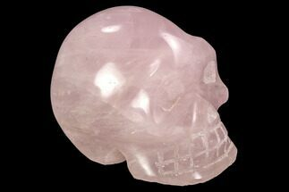 "3.9"" Polished Rose Quartz Crystal Skull For Sale, #99605"