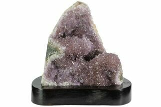 "Buy 4.9"" Wide, Purple Amethyst Cluster On Wood Base - Uruguay - #99889"