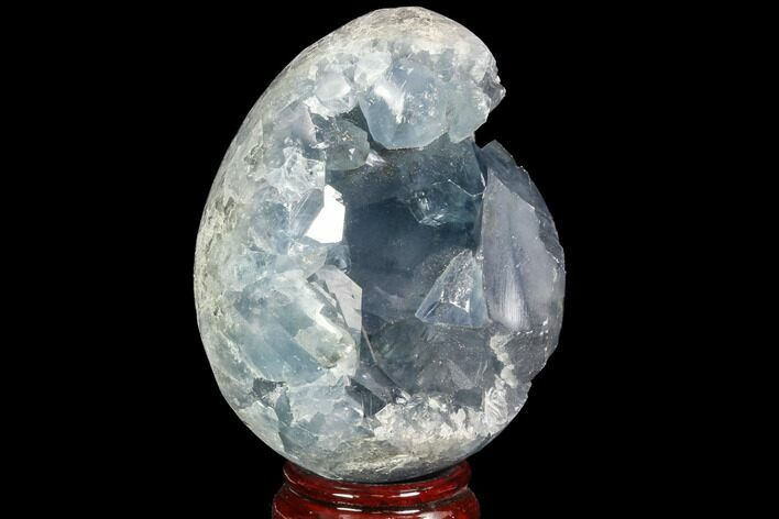 "3.7"" Crystal Filled Celestine (Celestite) ""Egg"" Geode - Madagascar"