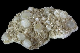 "5.5"" Plate of Zoned Apophyllite Crystals on Micro-Stilbite - India For Sale, #100154"