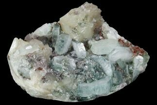 "Buy 3.1"" Tabular, Green Apophyllite Crystals on Stilbite - India - #100165"