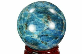 "2.2"" Bright Blue Apatite Sphere - Madagascar For Sale, #100307"