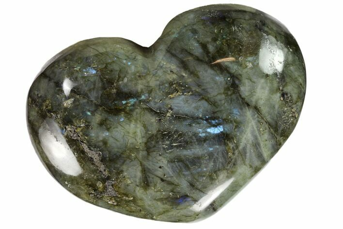 "4.6"" Flashy Polished Labradorite Heart"