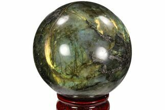 "2.8"" Flashy, Polished Labradorite Sphere - Great Color Play For Sale, #103676"