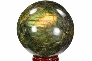 "Buy 4.4"" Flashy, Polished Labradorite Sphere - Great Color Play - #103699"