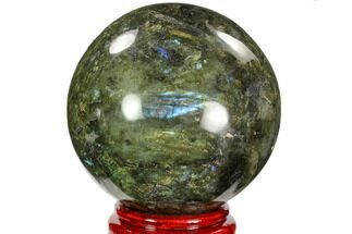 "Buy 5"" Flashy, Polished Labradorite Sphere - Great Color Play - #103702"