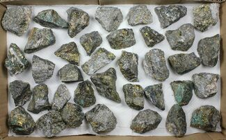 Wholesale Lot: 37 Pieces Peacock Ore (Chalcopyrite) - Morocco For Sale, #103832