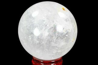 "3.9"" Polished Quartz Sphere - Madagascar For Sale, #104279"