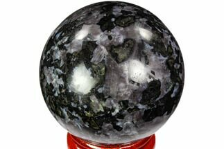 "1.8"" Polished, Indigo Gabbro Sphere - Madagascar For Sale, #104687"