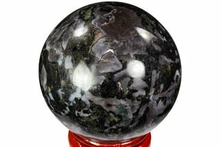"1.9"" Polished, Indigo Gabbro Sphere - Madagascar For Sale, #104693"