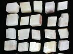 "Wholesale Flat: 1.5-2.1"" Cleaved, Rhombohedral Calcite - 39 Pieces - #104682-2"