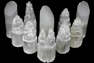"Buy Wholesale Lot: 7-10"" Assorted Selenite Lamps - 10 Pieces - #105328"