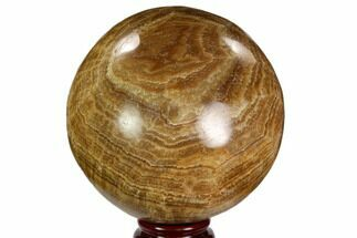 "4.2"" Polished, Banded Aragonite Sphere - Morocco For Sale, #105614"