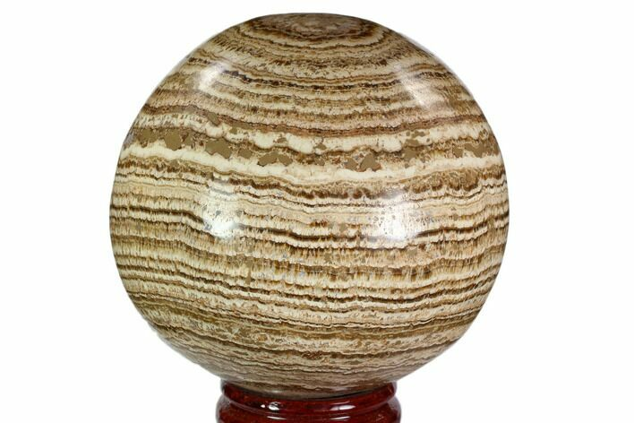 "4.3"" Polished, Banded Aragonite Sphere - Morocco"