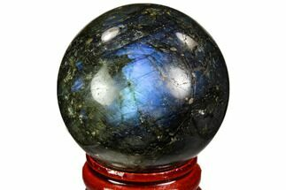 "Buy 1.6"" Flashy, Polished Labradorite Sphere - Madagascar - #105757"