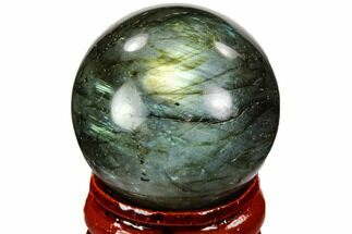 "1.3"" Flashy, Polished Labradorite Sphere - Great Color Play For Sale, #105767"