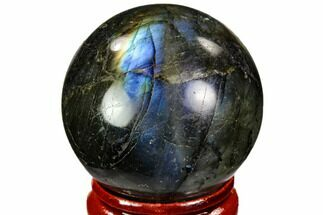 "Buy 1.45"" Flashy, Polished Labradorite Sphere - Great Color Play - #105730"